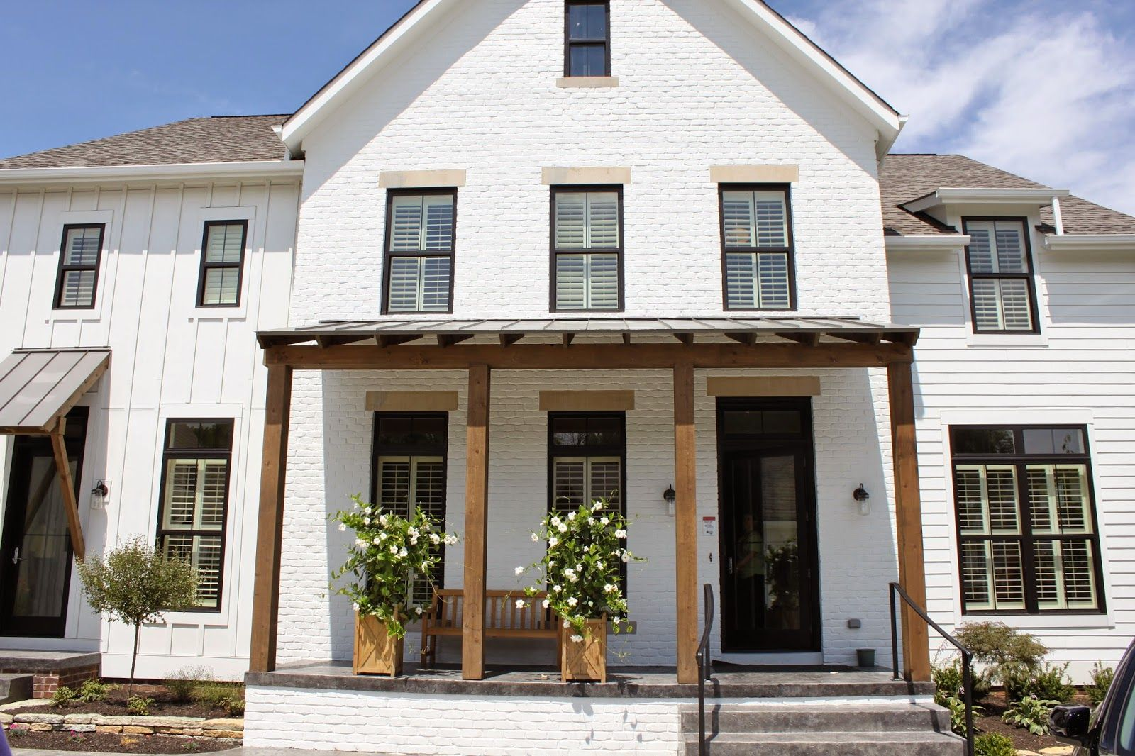 The fat hydrangea parade of homes week 2014 house 3 for Industrial farmhouse exterior