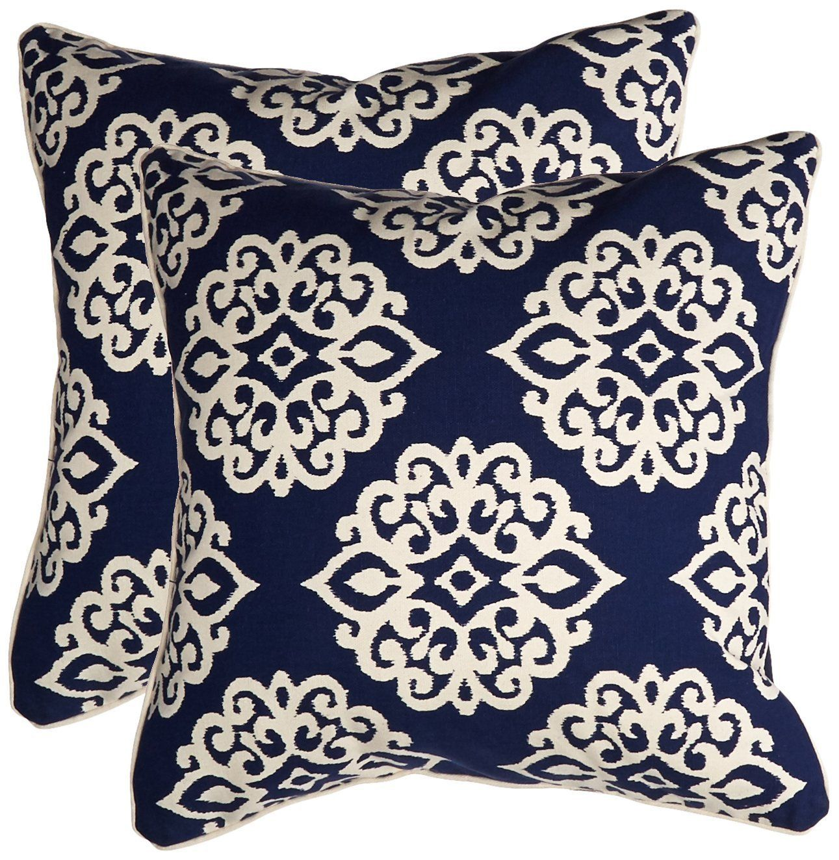 Lush Decor Sophie Zipper Pillow Shell Set Of 2 18 X