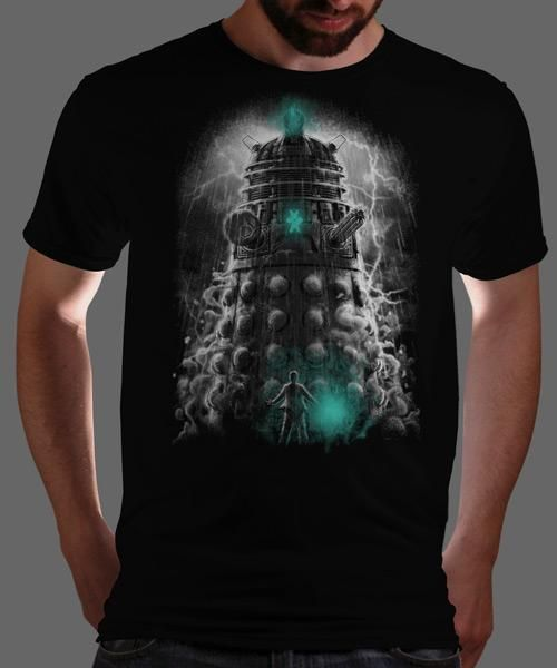"""""""Shadow of the Dalek"""" on Qwertee : Limited Edition Cheap Daily T Shirts   Gone in 24 Hours   T-shirt Only £8/€10/$12   Cool Graphic Funny Tee Shirts"""