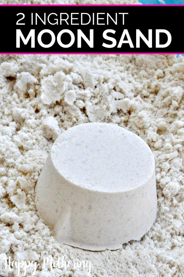 2 Ingredient DIY Moon Sand Recipe - Happy Mothering