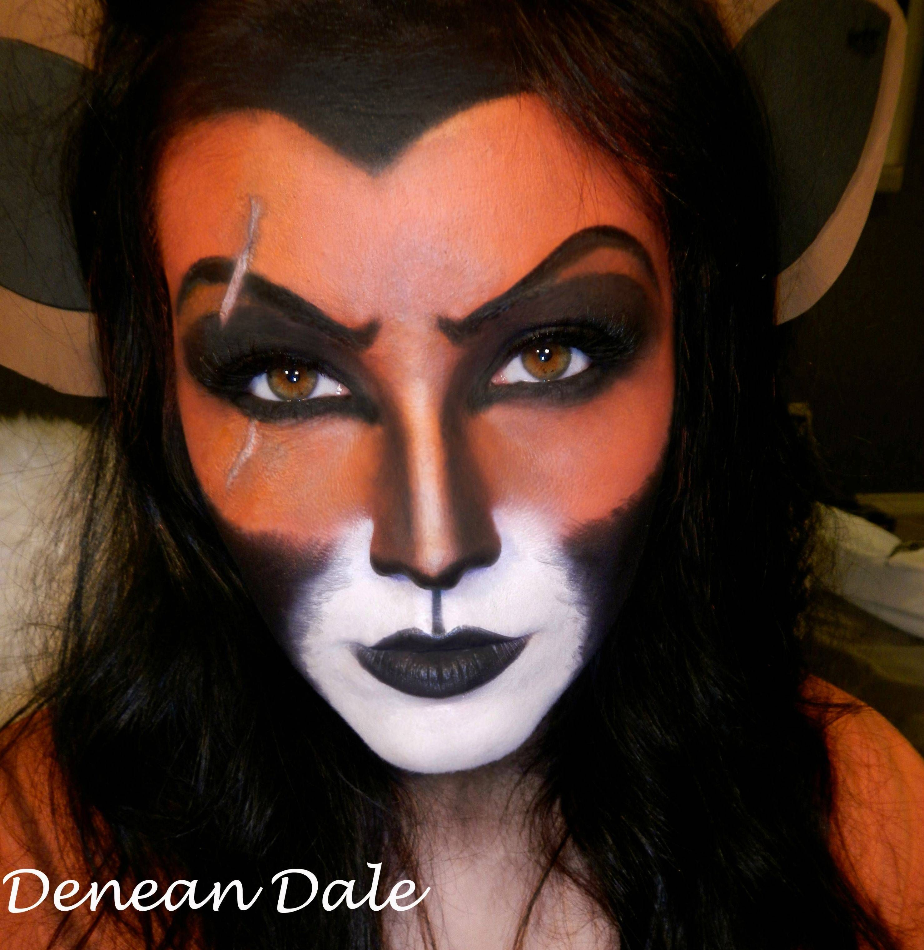 For my Disney lovers, Scar makeup I did! Tutorial in the