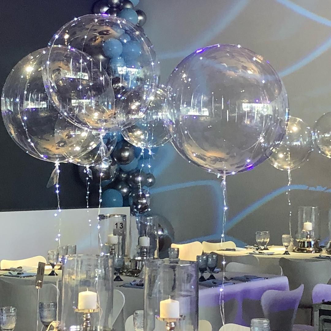 Balloon Elegance On Instagram Crystal Clear Balloons And Lighting Take Your Decor To The Next Level Planning A Part Clear Balloons Balloon Lights Can Lights