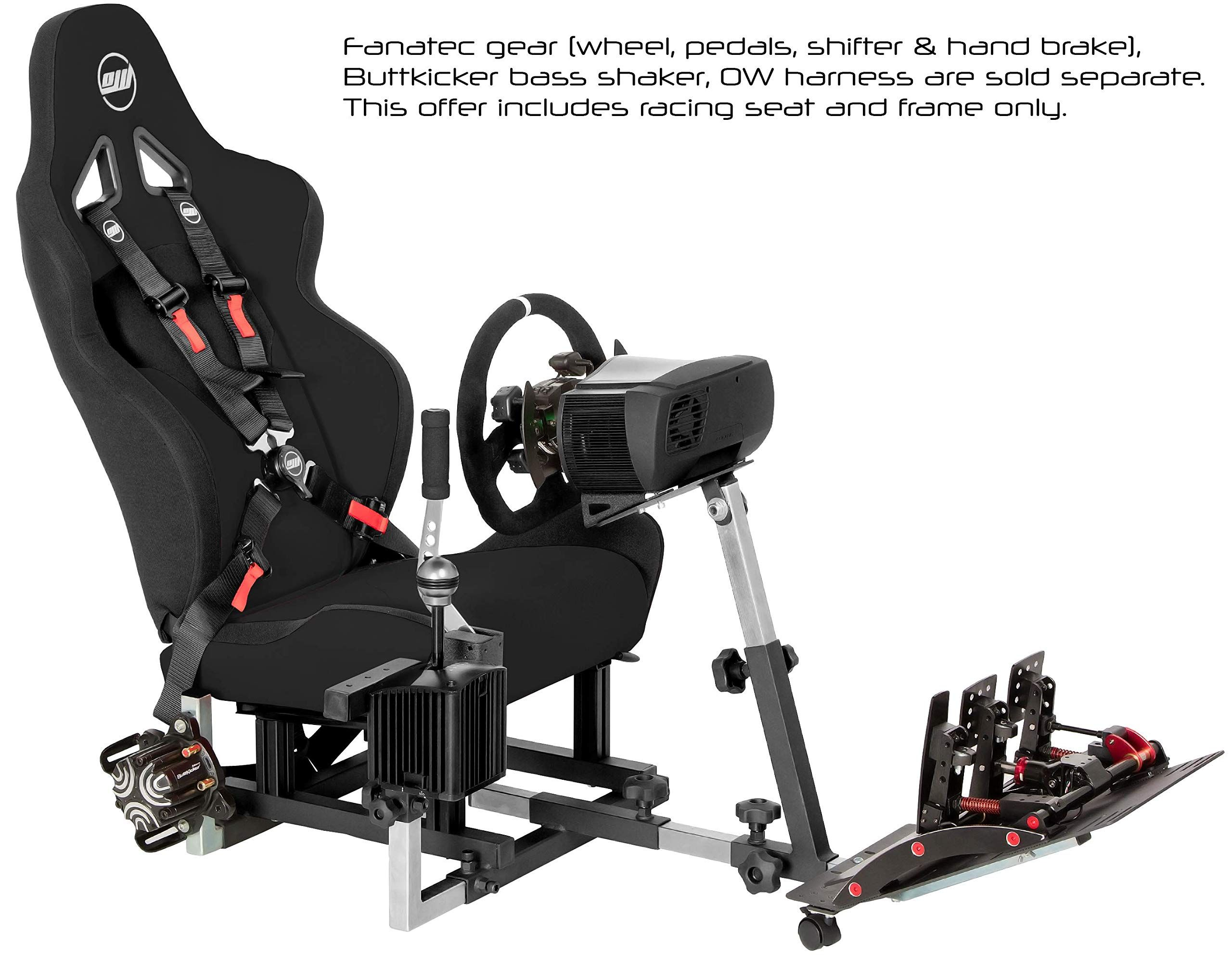 2e7057c2607 Openwheeler GEN2 Racing Wheel Stand Cockpit Black on Black Fits All Logitech  G29 G920 All Thrustmaster All Fanatec Wheels,#Stand, #Cockpit, #Black,  #Wheel
