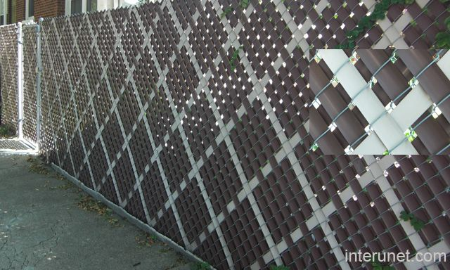 All Vinyl Black Chain Link Fence Modern Fence Front Yard Fence