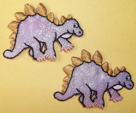 Dinosaur Prehistoric Set Of 2 SMALL Iron On Patch Childrens