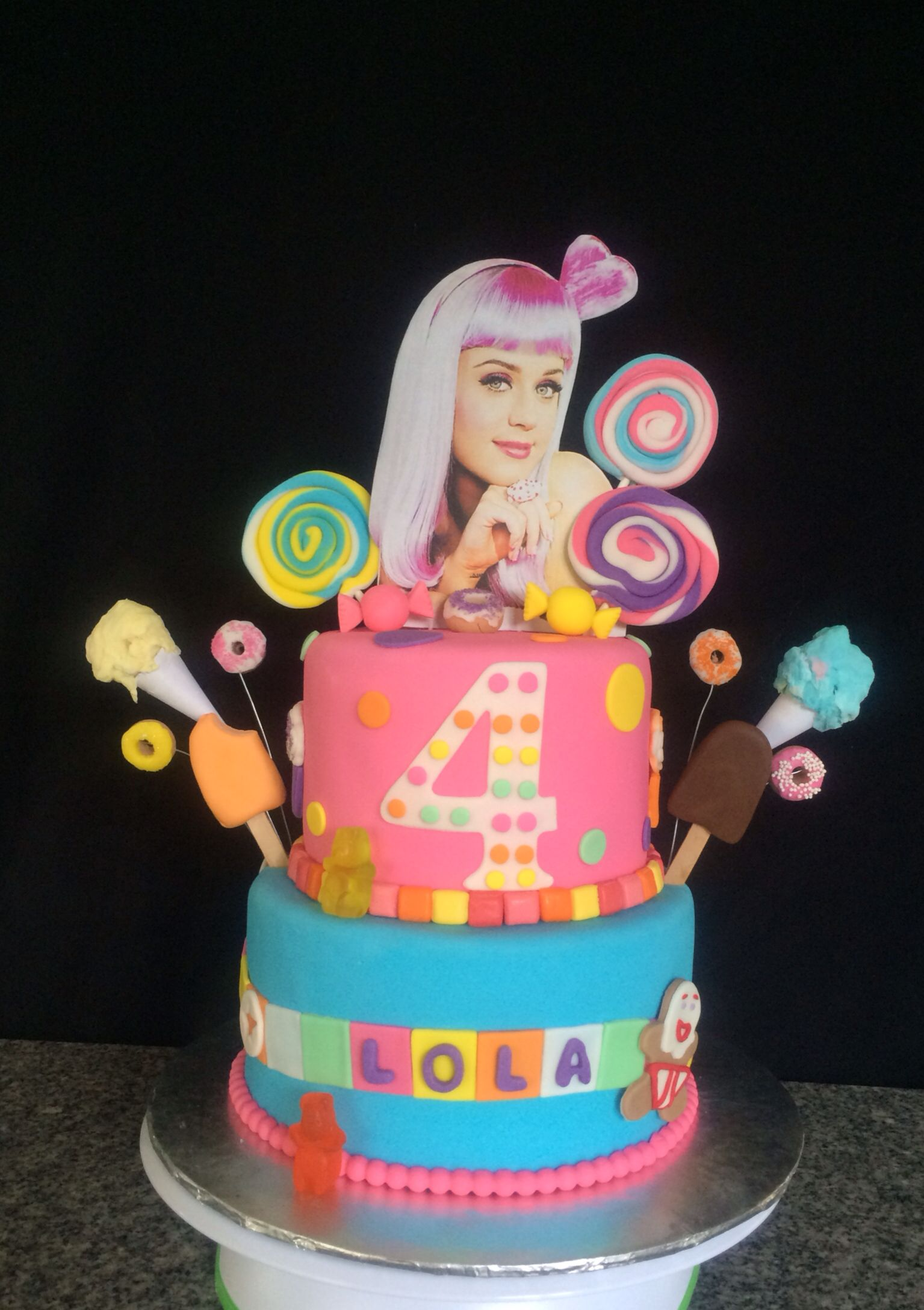 Brilliant Katy Perry Cake Festa Ideias Torta Personalised Birthday Cards Veneteletsinfo