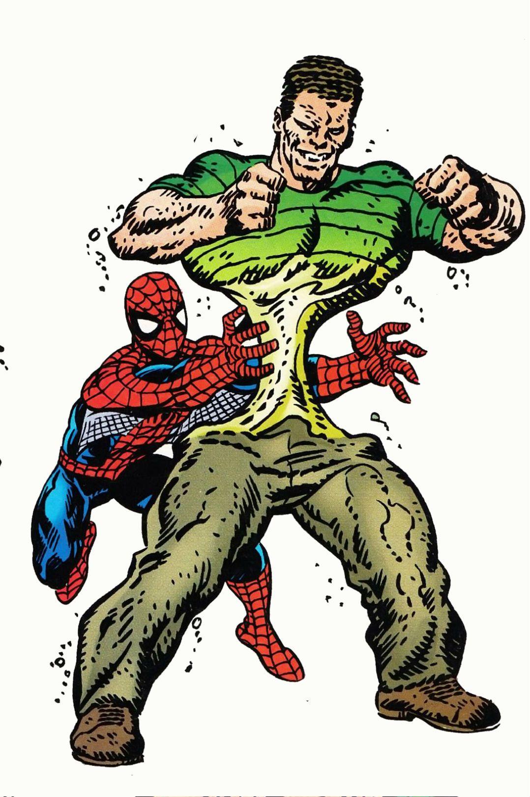 Spider-Man vs Sandman by John Byrne | Marvel, dc ...