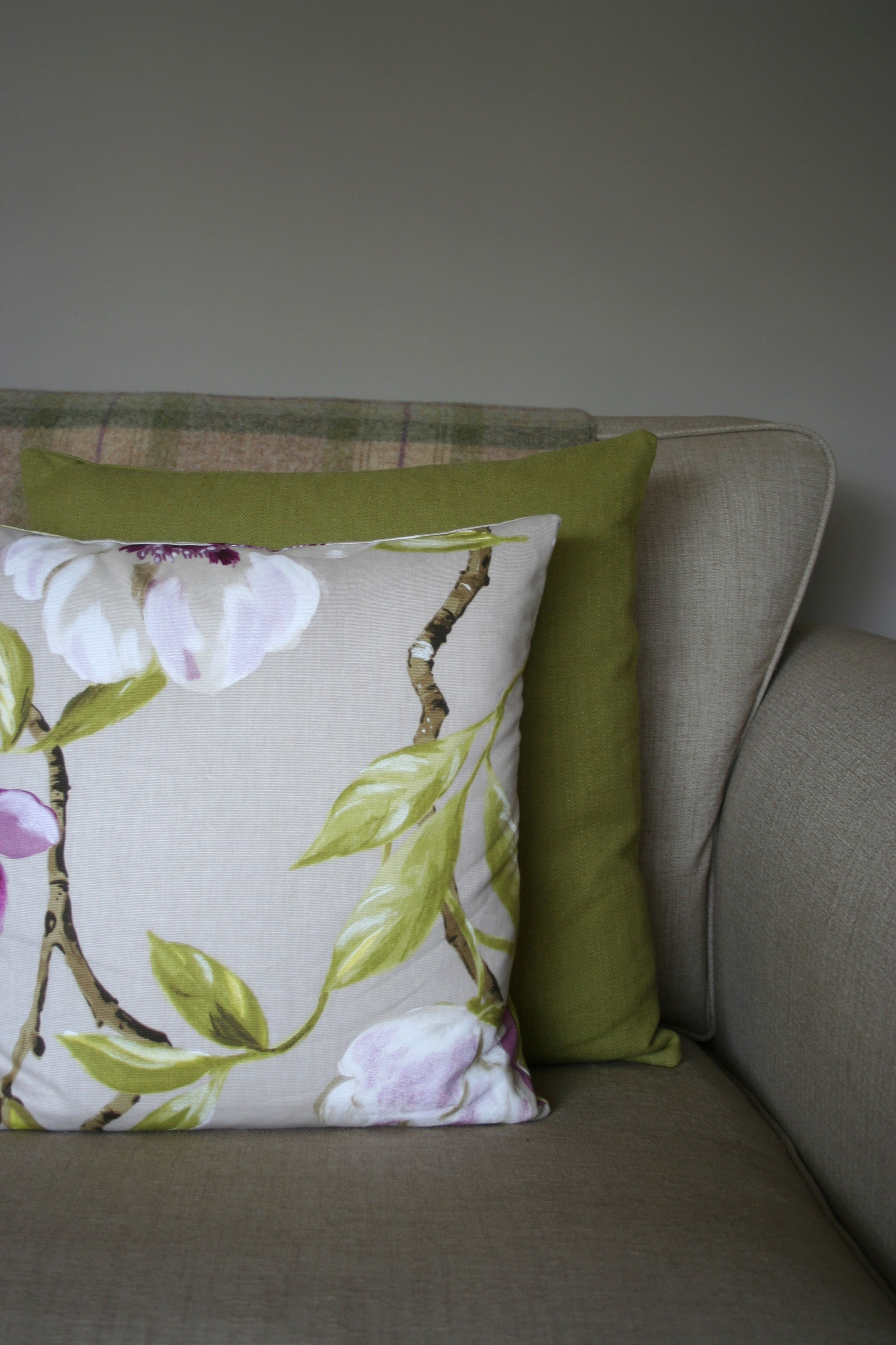 Floral cushions this was an bespoke design order for a customer who