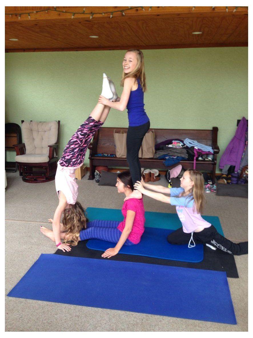 4 Person Yoga Challenge 4personyogachallenge Acro Yoga 4 Person Top Yoga Poses Yoga Poses Cool Yoga Poses