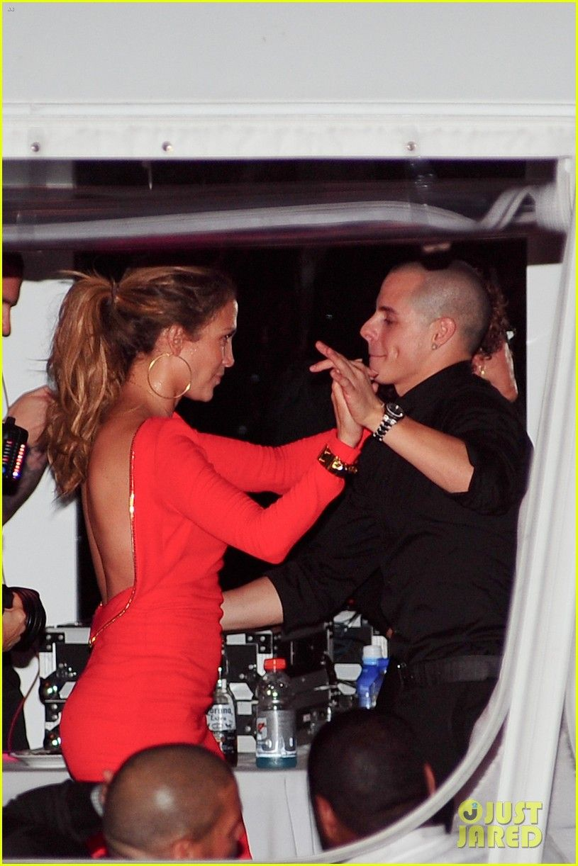 Jennifer Lopez and Casper Smart seen leaving the 'American Idol' studios in  Hollywood,