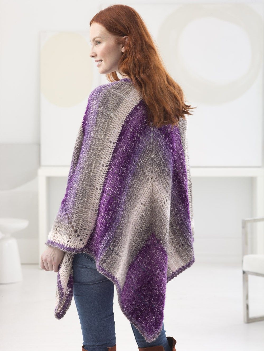 Triangle Ruana By Teresa Chorzepa - Free Crochet …   Crochet shawls ...