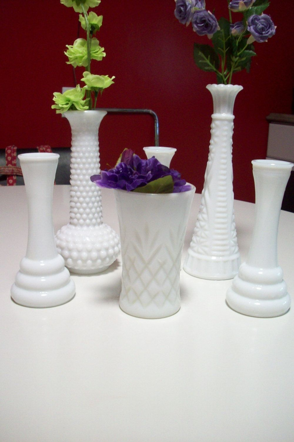 White milk glass vases wedding centerpiece vases hoosier glass vase white milk glass reviewsmspy