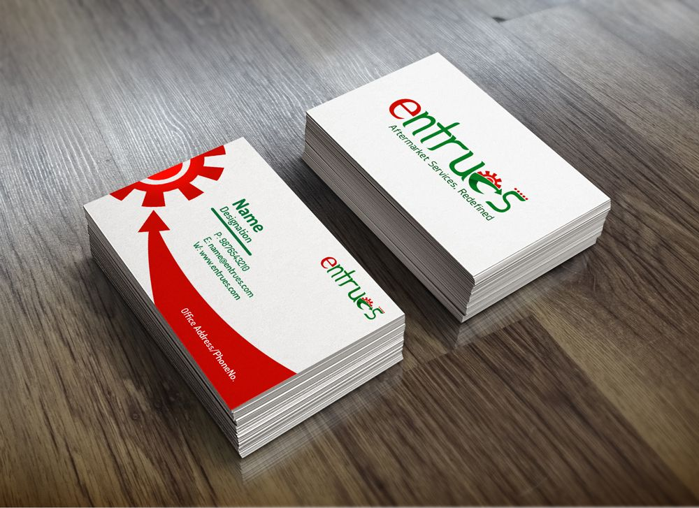 Business Card For Entrues Graphic Design Business Card Creative Branding Web Graphic Design