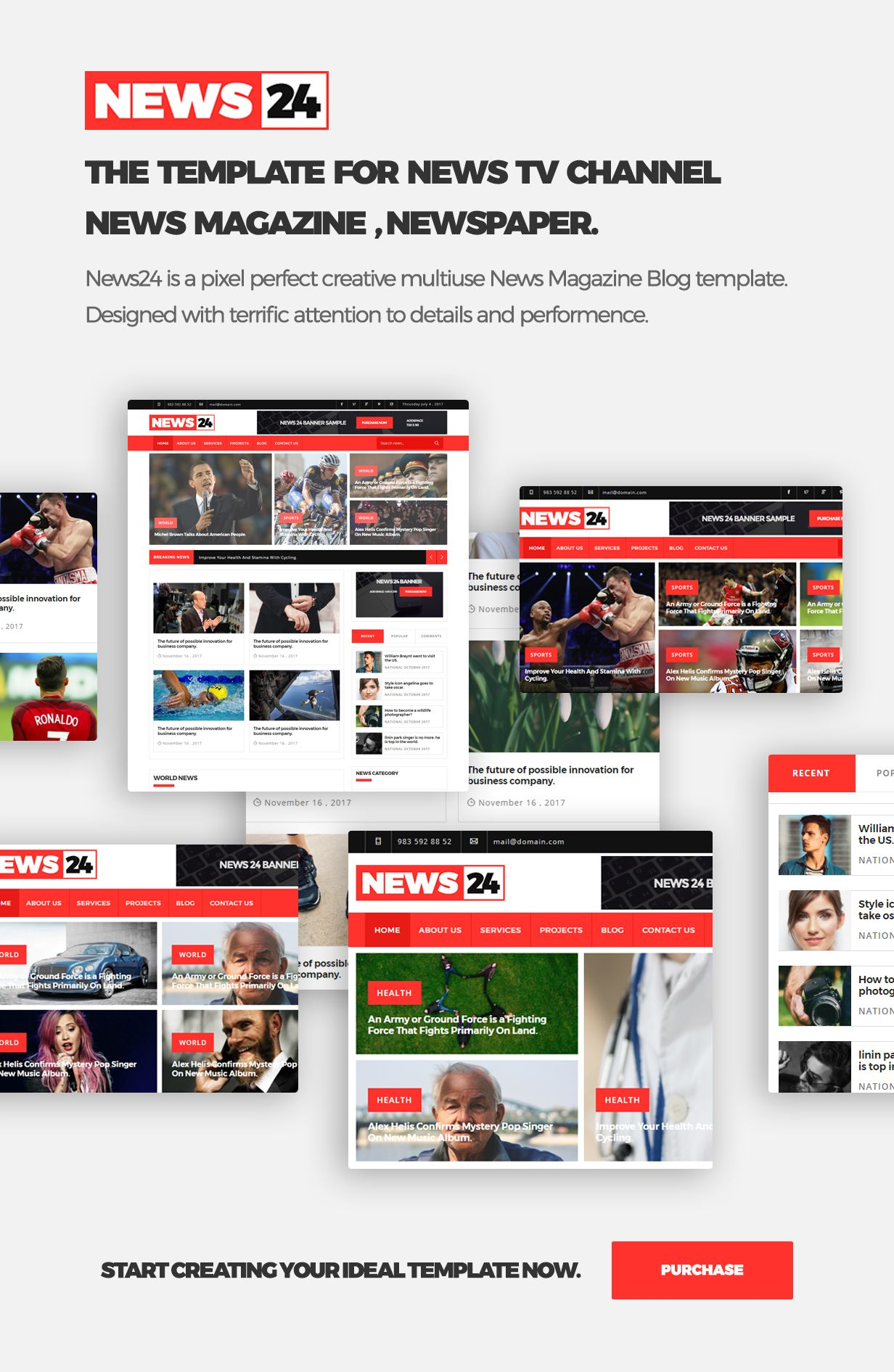 Magazine Template News Website Templates Newspaper Theme