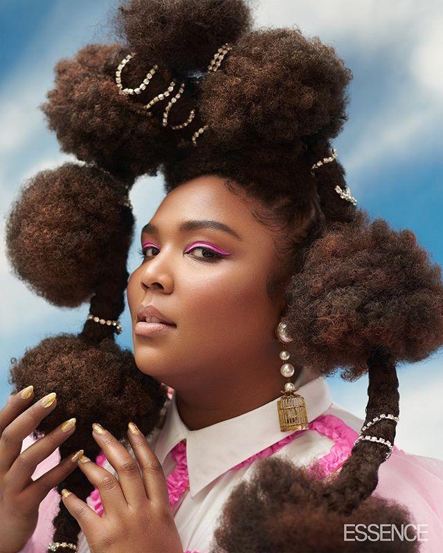 Lizzo, Essence Magazine | Cool hairstyles
