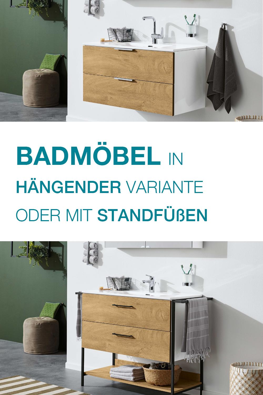 Badmobel Mit Standfussen Oder In Hangender Variante In 2020 Standfuss Bad Design