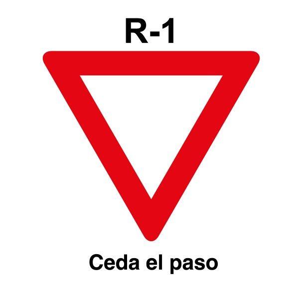 Señal de circulación R1 Ceda el paso | Señales de Tráfico y ...