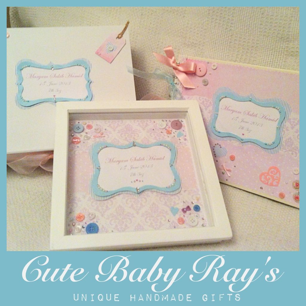 Handmade personalised new baby gift set a personalised frame handmade personalised new baby gift set a personalised frame with name and birth details negle Image collections
