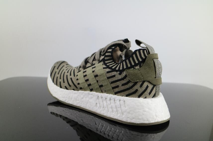 hot sale online 50a1f e773c Hot Authentic Adidas NMD R2 Military Green BA7198 Real Boost ...