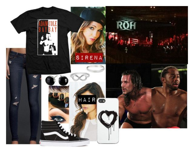 """""""At ROH with Sirena (Read Description)"""" by godslastgift ❤ liked on Polyvore featuring Hollister Co., Zero Gravity, Jewel Exclusive, Vans, WWE, Diva, event, ROH and adamcole"""