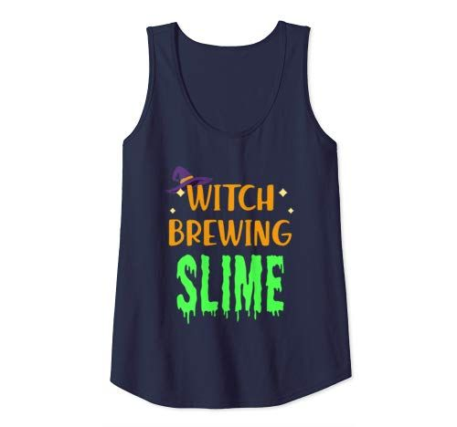 Slime Halloween Witch Hat Funny Easy Costume Party Tank Top Women #easycostumesformen