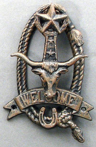 Cast Iron Long Horn Doorknocker