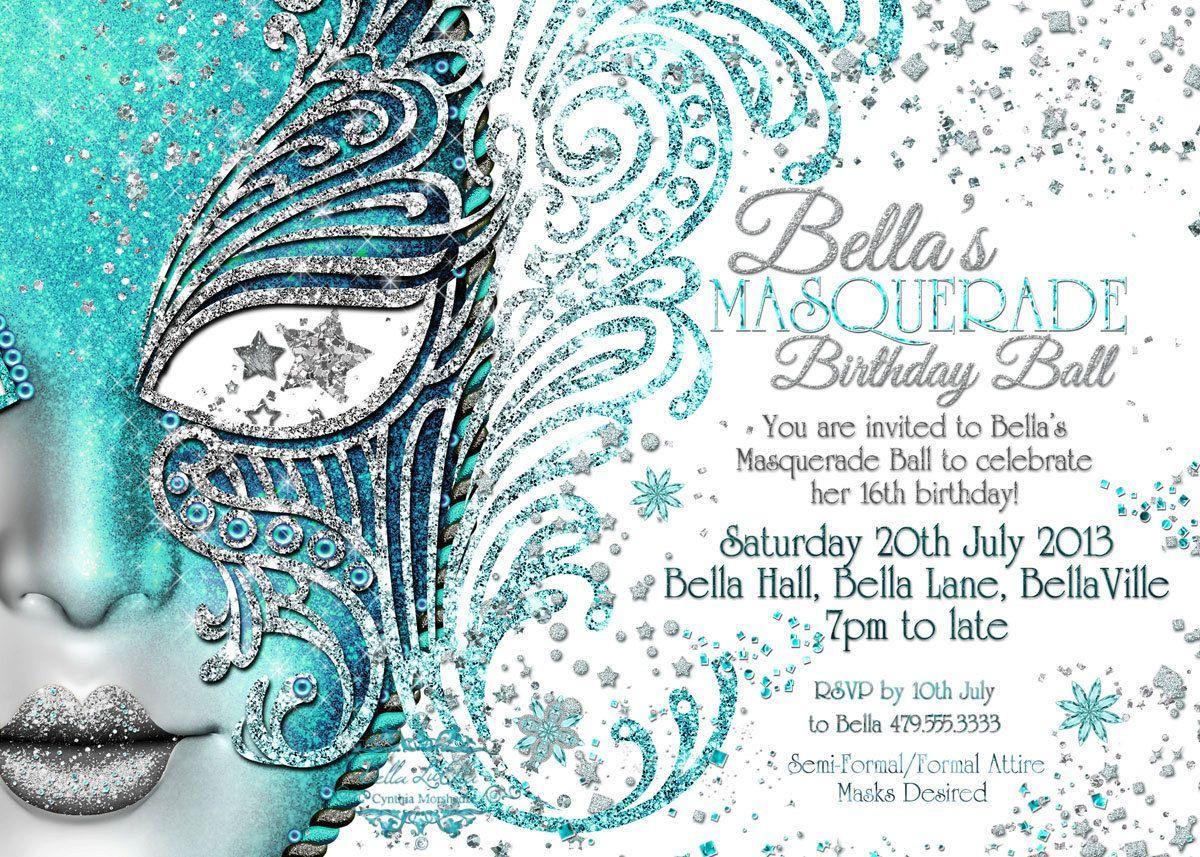 Masquerade Invitation, Mardi Gras Party, Party Invitations ...