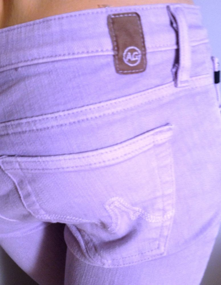 AG Adriano Goldschmied The Angel In Lavender Cropped Jeans Size 26 #AGAdrianoGoldschmied #CapriCropped