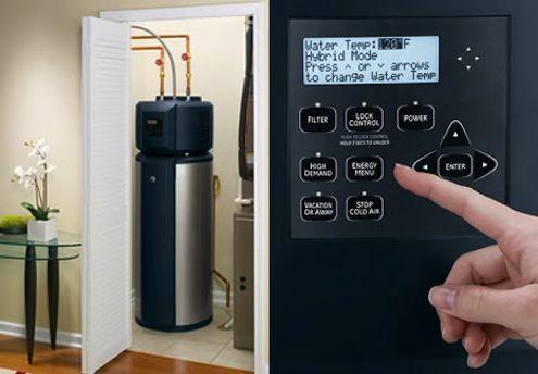 Radio Hybrid Water Heater Mechanical Room Water Heating