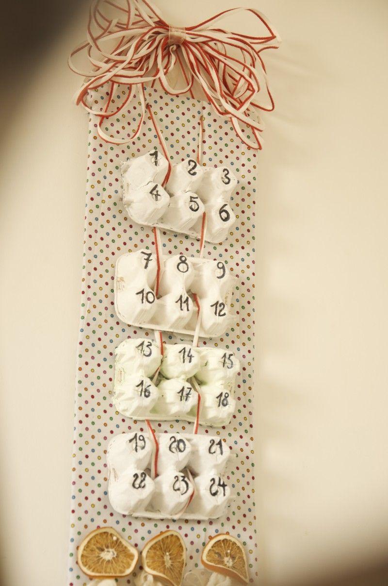 diy #calendrier de l'avent #boites a oeufs | noël | pinterest | noel