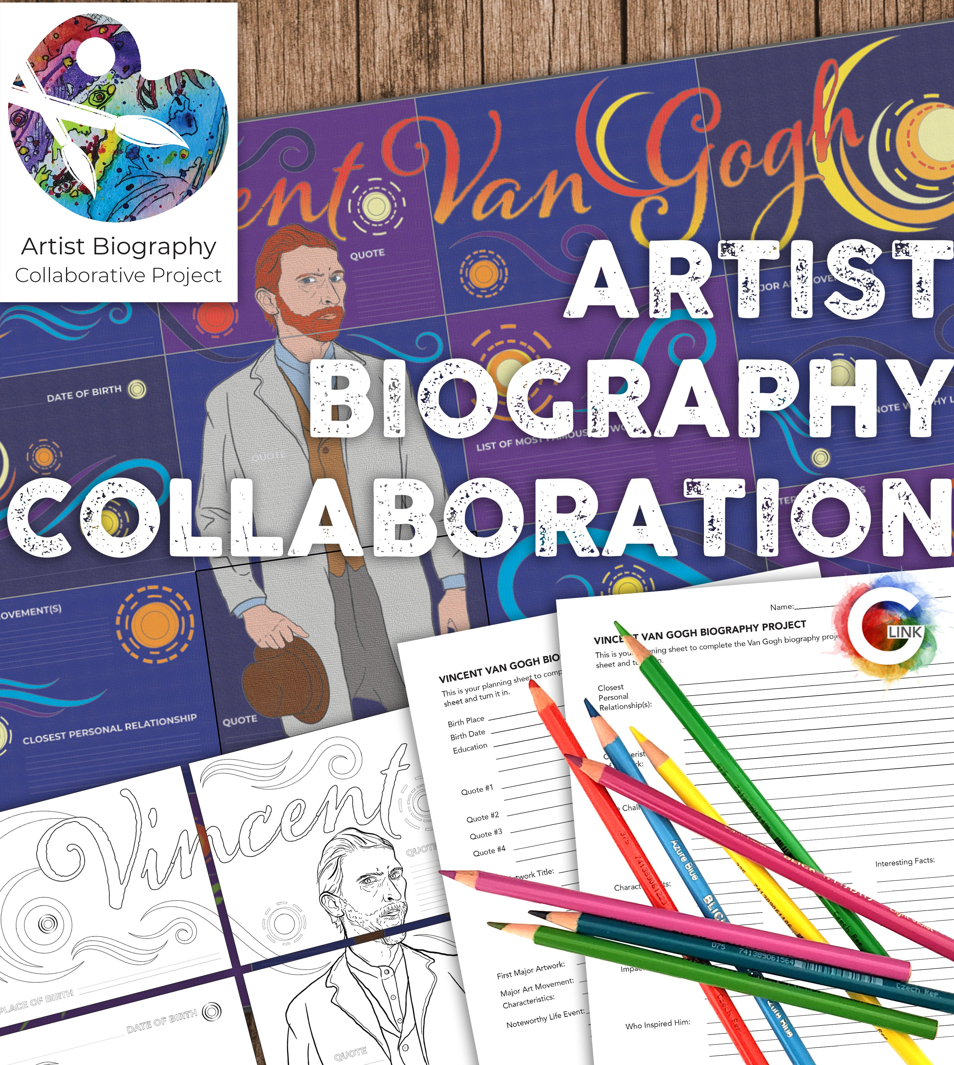 Artist Biography Collaborative Poster