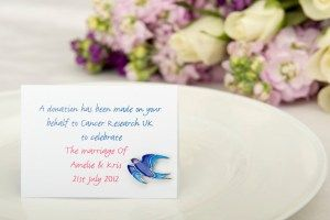 Wedding Favours Cancer Research Blue Jay Pin