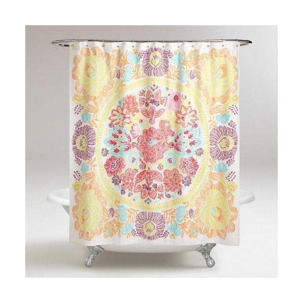 Cost Plus World Market Rachel Shower Curtain Coral Shower