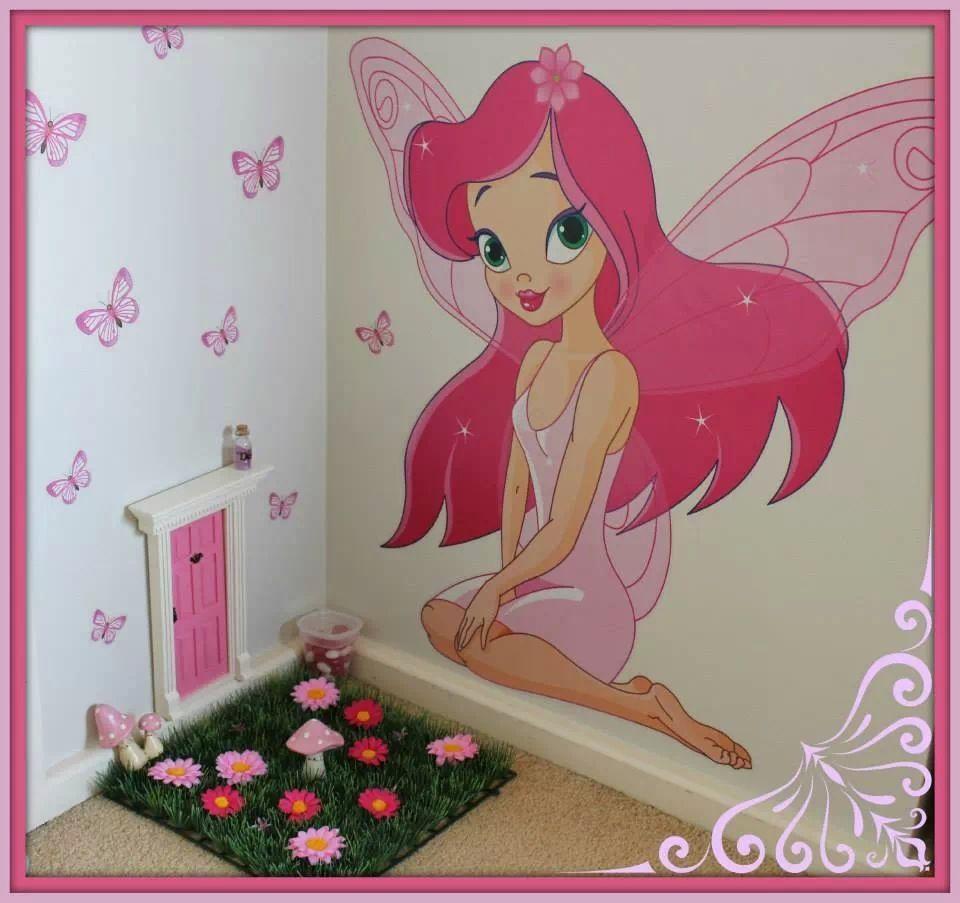 Fairy door. Cute idea in a little girls room, make it a whole ...