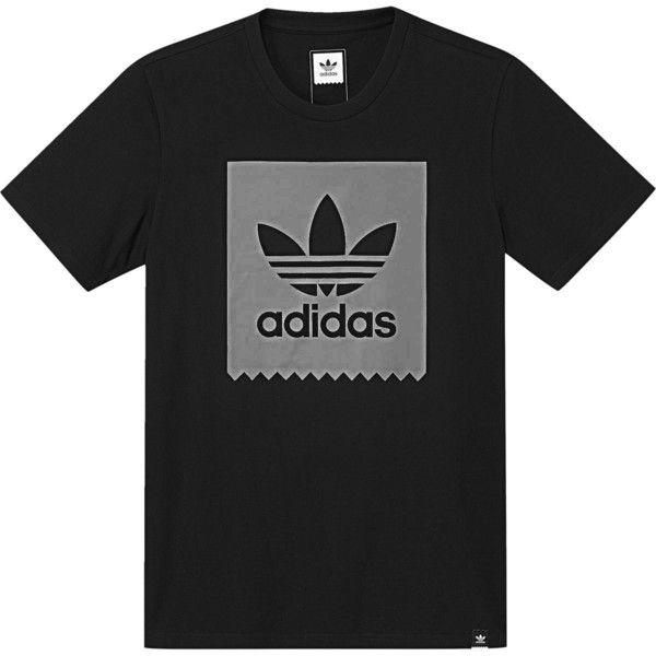 1c8209d87 Adidas Blackbird Logo Fill T-Shirt ($26) ❤ liked on Polyvore featuring  men's fashion, men's clothing, men's shirts and men's t-shirts