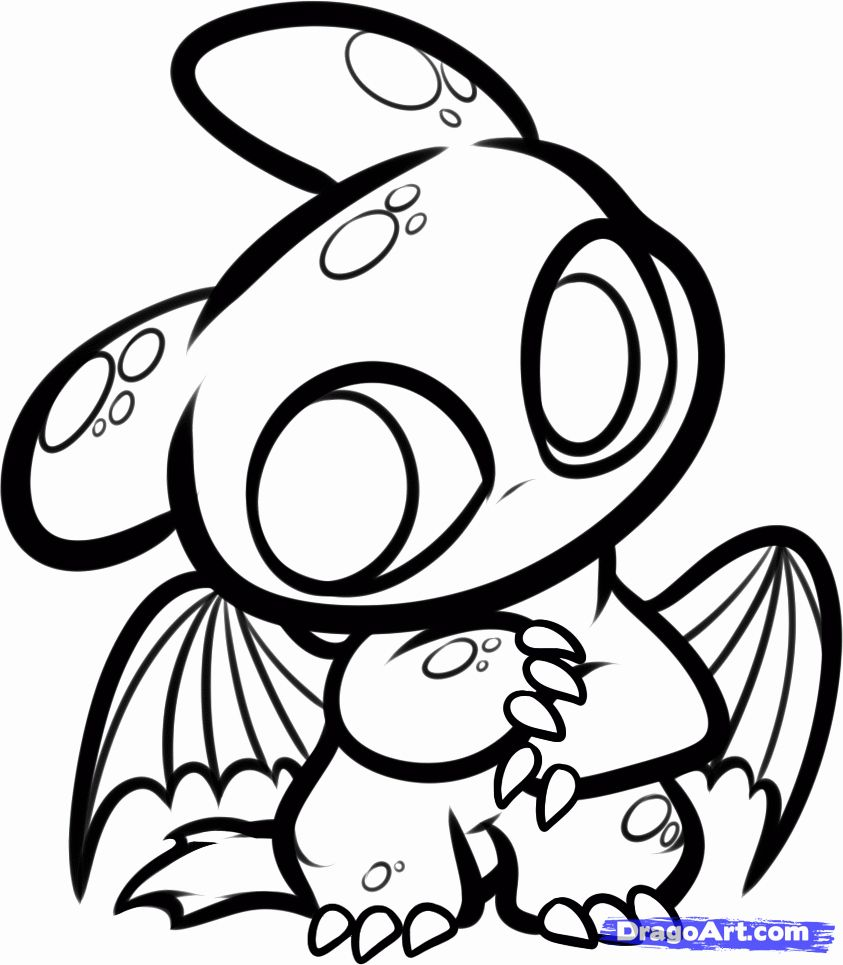 Chibi Animal Coloring Pages Elegant How To Draw Chibi Night Fury Chibi Toothless Step By In 2020 Dragon Coloring Page Chibi Drawings Animal Coloring Pages