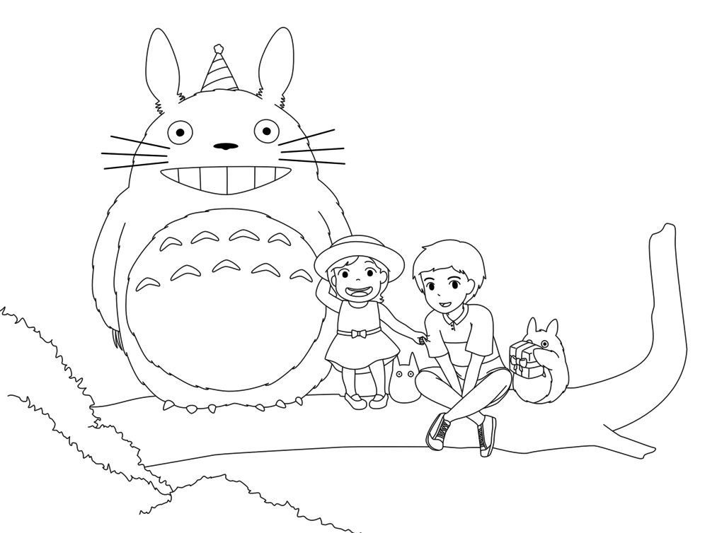 Totoro Coloring Pages Coloring Pages Kids Coloring Pages Totoro Art
