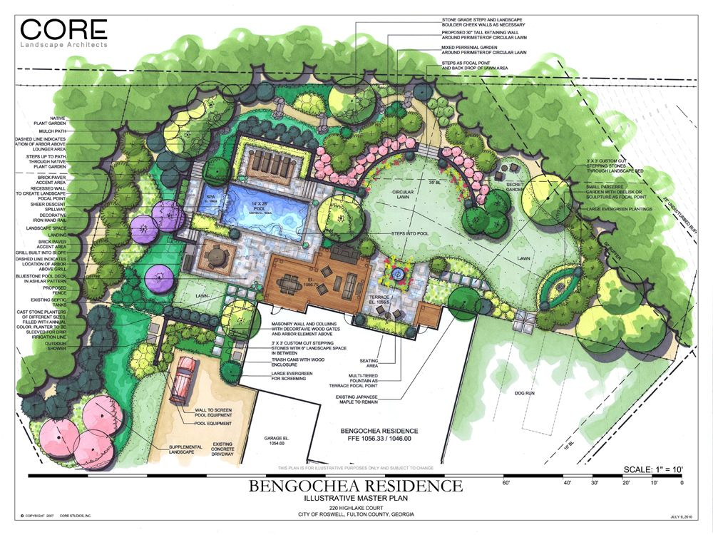 Siteplan square circular masterplan landscape for Backyard garden plans
