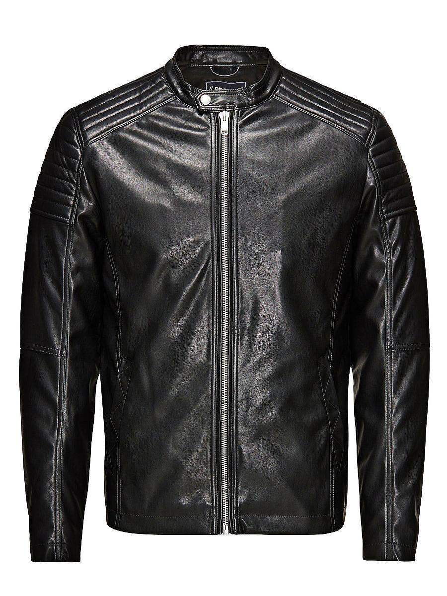 PRODUKT - PU-Jacke von PRODUKT - Regular fit - Bandkragen mit Schnappknopf - Durchgehender Reißverschluss- Taschen- Ärmel mit Reißverschlüssen Außenmaterial: 100% Polyester, Futter: 100% Polyester...
