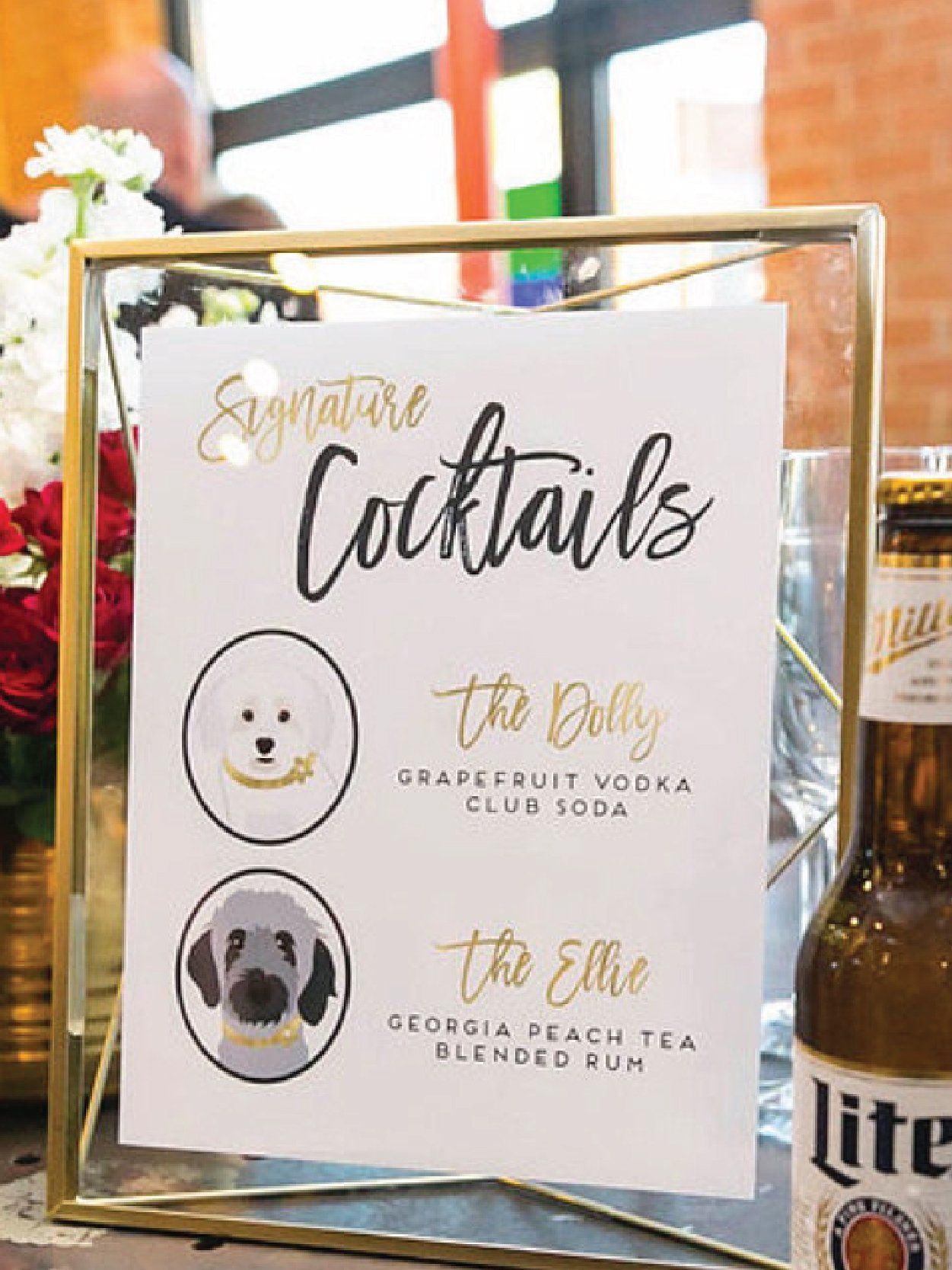 Wedding Signature Drink Sign With Pet Portraits Wedding Signature Drinks Signature Wedding Drinks Sign Signature Drinks Sign