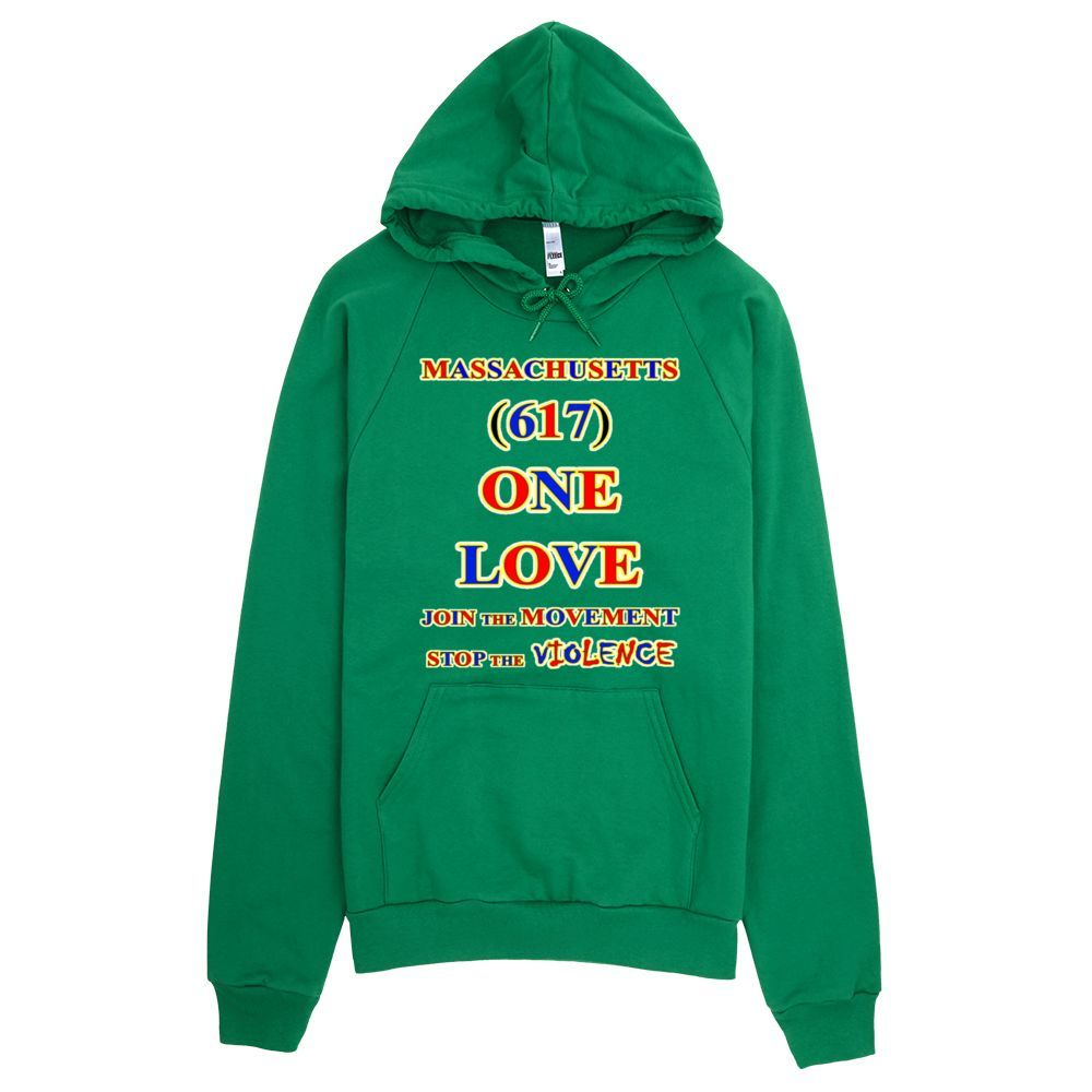 MASSACHUSETTS Area Code 617 ONE LOVE HOODIE Products