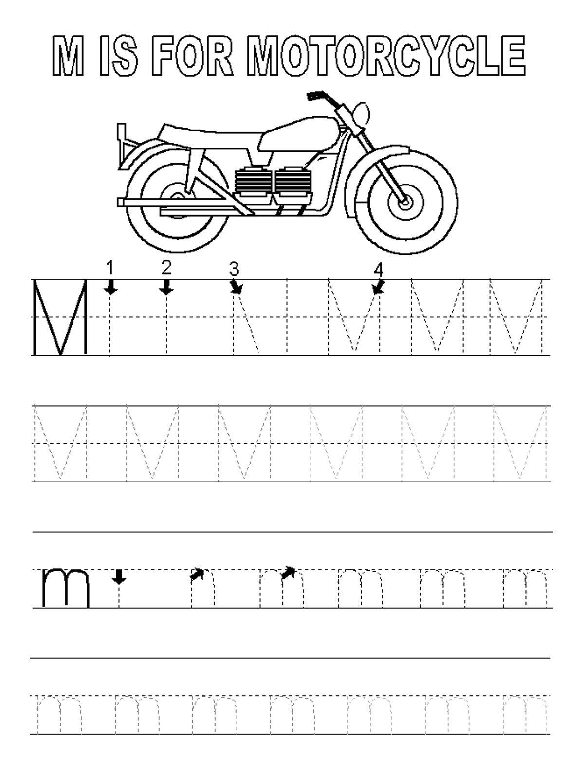 Letter M Worksheets Kindergarten Letter M Worksheets In
