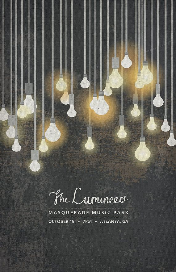 The Lumineers Poster By Thesearethingsbykody On Etsy 1500
