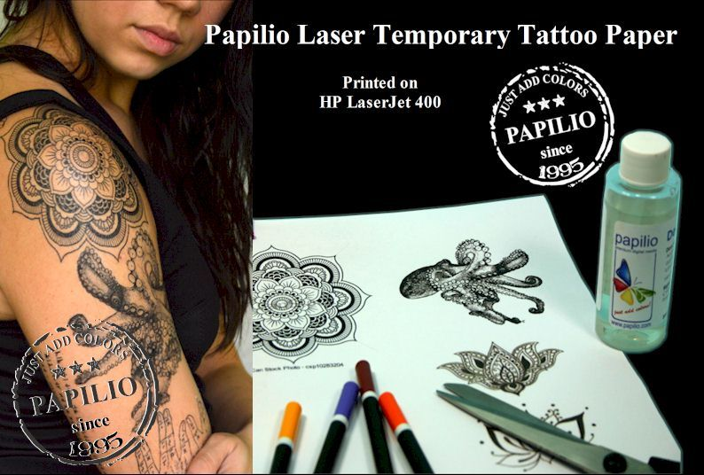 graphic regarding Printable Temporary Tattoos referred to as Laser Non permanent Tattoo - Provider SHEETS Basically - 8.5 within x 11
