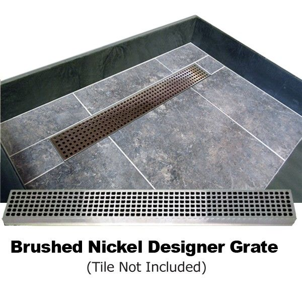 Redi Trench Double Curb Shower Pan With Center Trench Drain