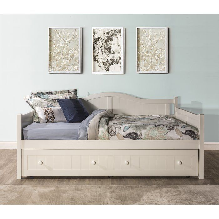 Mckittrick Full Daybed Trundle Included Full Daybed Wood Daybed