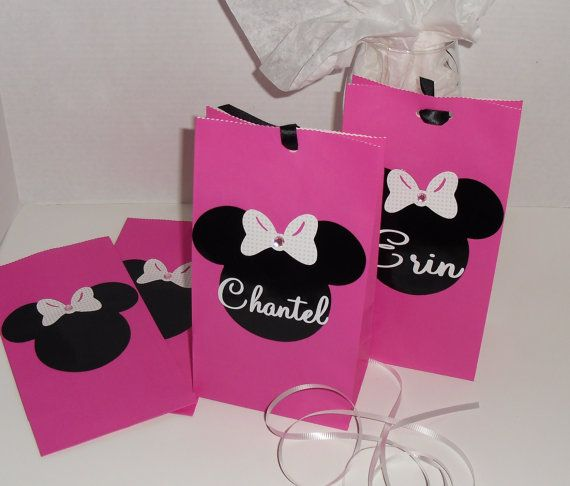 Disney Minnie and Mickey Mouse Personalized Party by DooMeAFavor, $14.50
