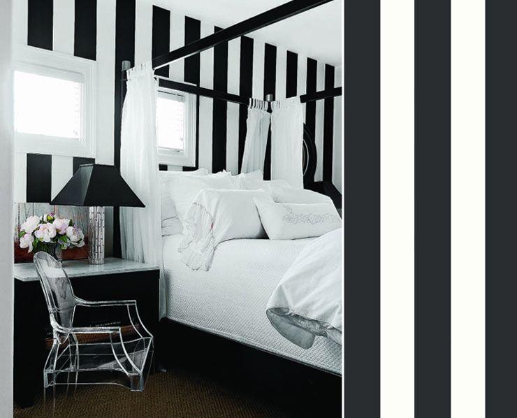 dcouvrez notre slection de huit papiers peints gomtriques pour une chambre trs graphique - Peinture Noir Et Blanc Chambre