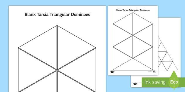 Blank Tarsia Triangular Dominoes Math Pinterest Math
