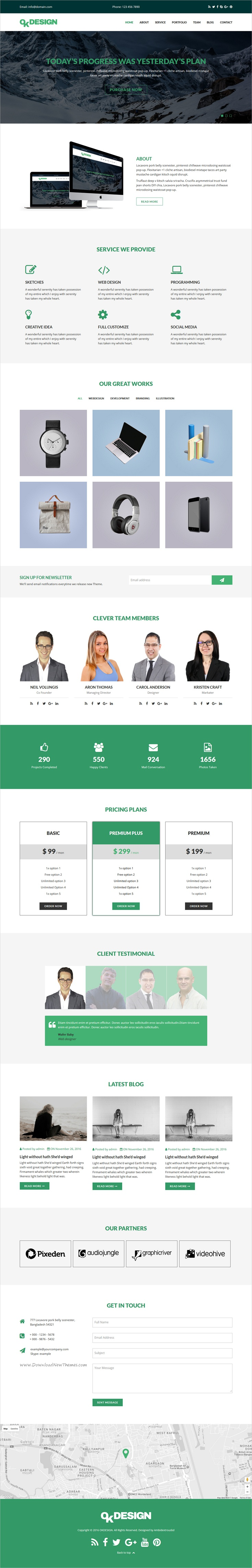 OkDesign - One Page Multipurpose Html Template | Company profile and ...